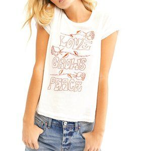 Free People || Love Grows Peace Graphic Tee